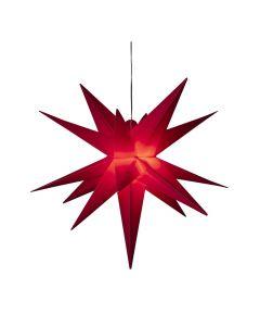 Stjärna i 3D Röd 80cm inkl 5 m kabel IP44 från Konstsmide