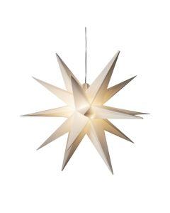 Stjärna i 3D Vit 80cm inkl 5 m kabel IP44 från Konstsmide