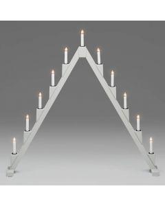 Vikbar Grå 11-Arm Adventsljusstake från Konstsmide