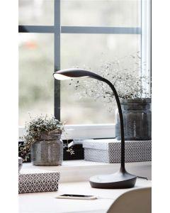 Swan Svart Led/Dimmer/Usb Läslampa från Markslöjd