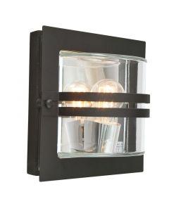 Bern Svart/Klar Ip54 Vägglampa från Norlys