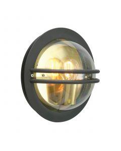 Bremen Svart/Klar IP54 Vägglampa från Norlys