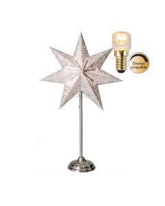 Antique Vit 55Cm Stjärna På Fot Inkl Ljuskälla från Star Trading