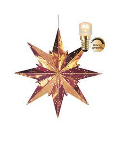 Stjärna Mini Koppar 25cm Inkl Ljuskälla från Star Trading