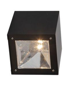 Wally Cube Solcells Fasadbelysning 20Lm Svart från Star Trading