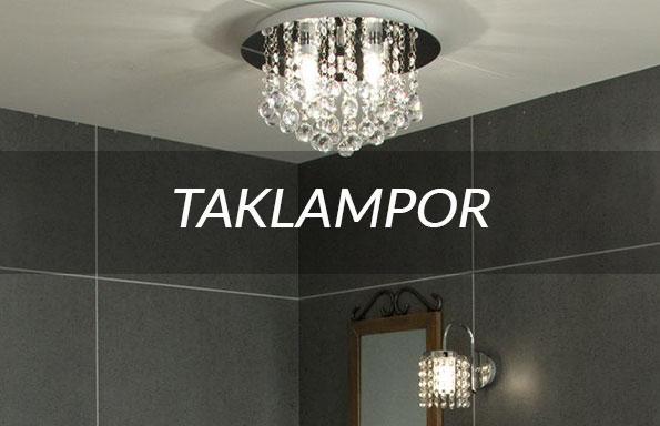 Taklampor badrum