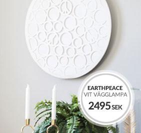 Earthpeace vägglampa Design Åsa Gessle för By Rydéns