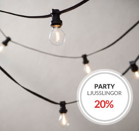 Partyslingor Ljusslingor Kampanj