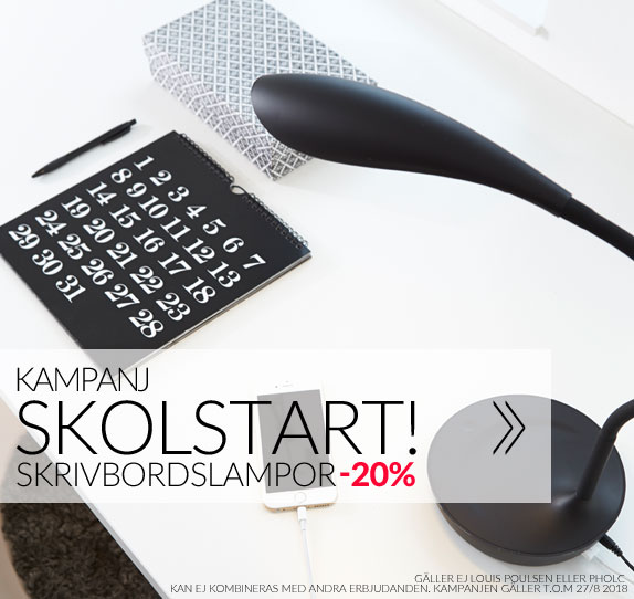 Kampanj Skolstart 20% på alla skrivbordslampor