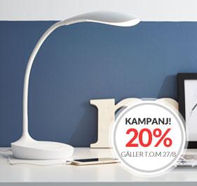 Skrivbordslampa med USB Swan från Markslöjd