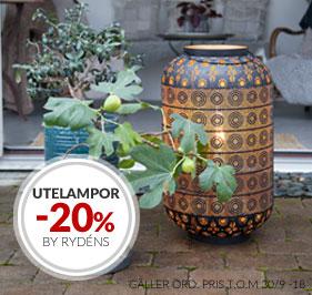 20% Kampanj på Utelampor från By Rydéns