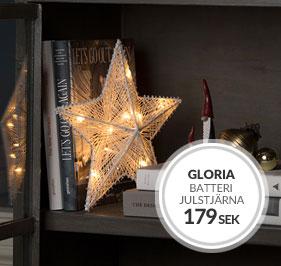 Batteridriven julstjärna Gloria från Watt&Veke
