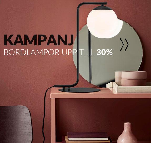 Kampanj Bordslampor från 15% upp till 30% rabatt
