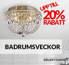 Kampanj Badrumslampor!
