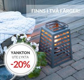 By Rydéns Yankton Utelykta finns i svart och sandgrå