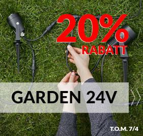 Smidigt belysningssystem för din trädgård- Garden 24 från Markslöjd