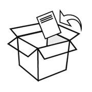 Lägg följesedeln i paketet