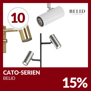 Julkalendern Lucka #10 - Hela Cato-serien 15% rabatt.