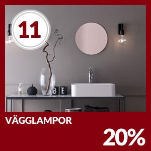 Julkalendern Lucka #11 - Hela 20% rabatt på all väggbelysning