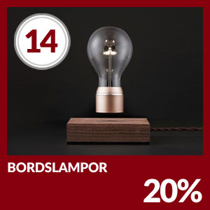 Julkalendern Lucka #14 - Bordslampor 20% rabatt hos Lampan.se