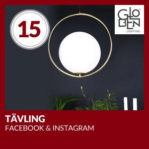 Julkalendern Lucka #15 - Tävling tillsammans med Globen Lighting. Facebook och Instagram.