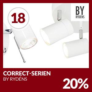 Julkalendern Lucka #18 - 20% rabatt på Correct-serien från By Rydéns