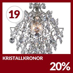 Julkalendern Lucka #19 - Missa inte 20% på alla kristallkronor