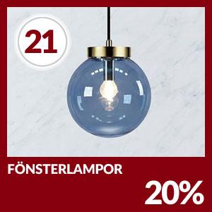 Julkalendern Lucka #21 - Passa på med 20% rabatt på all fönsterbelysning