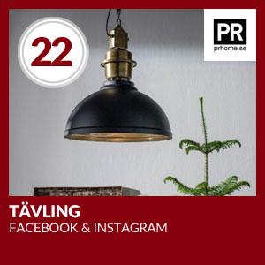 Julkalendern Lucka #22 - Tävling på Facebook och Instagram i samarbete med PR Home