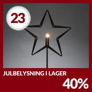Julkalendern Lucka #23 - Hela 40% på all Julbelysning