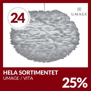 Julkalendern Lucka #24 - 25% rabatt på hela Umage Sortiment
