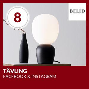 Julkalendern Lucka #8 - Tävling på Facebook och Instagram tillsammans med Belid
