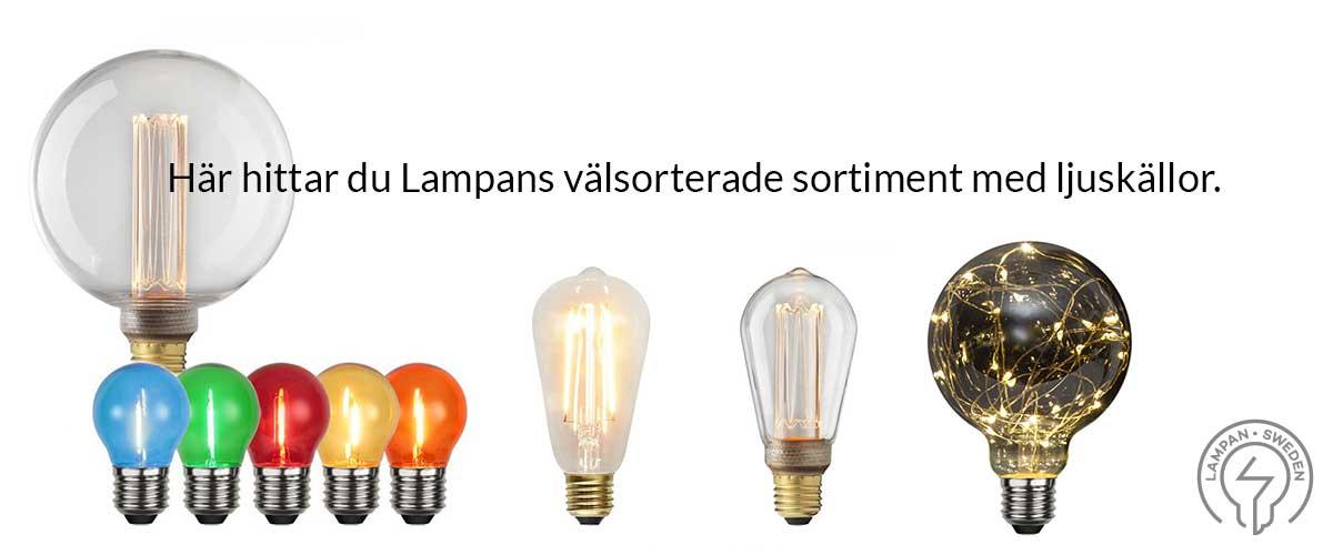 Stort utbud på Lampor och LED belysning